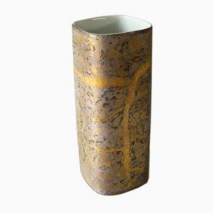Vaso in porcellana con decorazione opaca di H. Dressler per Rosenthal, anni '60