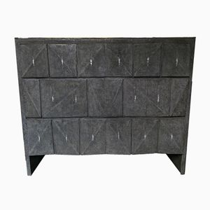 Chest of Drawers in Black Shagreen by Gallery 64/65