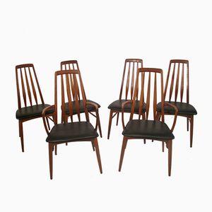 Teak Chairs by Niels Koefoeds for Koefoeds Hornslet, 1960s, Set of 6