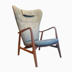 Wing Back Armchair by Madsen & Schübel for Vik & Blindheim, 1950s