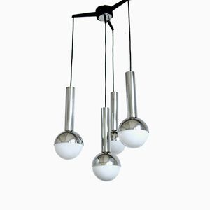 Ceiling Pendant Lamp with 4 Globes, 1960s