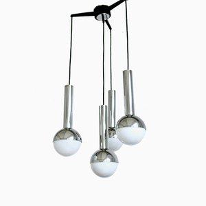 Lámpara colgante con cuatro globos, años 60