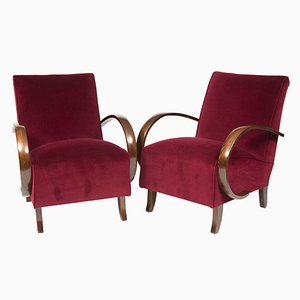 Czech Armchairs by Jindřich Halabala, 1930s, Set of 2