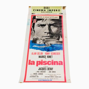 Italienisches Vintage Swimming Pool Filmplakat