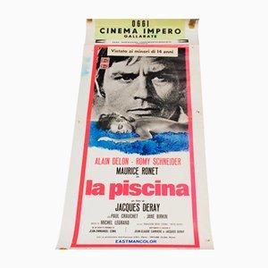 Poster vintage del film La piscina, Italia