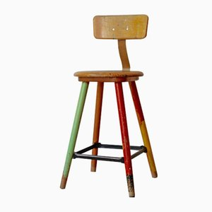 Vintage Workshop Stool, 1950s