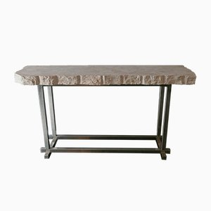 Table Console en Marbre Trani par Flair pour Gallery 64/65, Italie