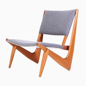 Model 233 Lounge Chair by Bertil W. Behrman for Fabriker AB, 1956