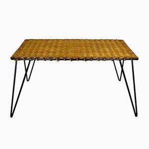 Table Basse en Rotin et Métal par Guys Raoul, 1950s
