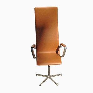 Chaise de Bureau Oxford à Dossier Haut Vintage par Arne Jacobsen pour Fritz Hansen