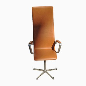 Vintage Highback Oxford Office Chair by Arne Jacobsen for Fritz Hansen