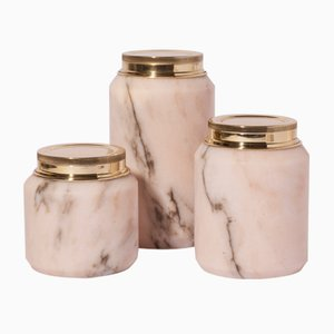 Pots Collection STONELAND 4SEASONS Barattoli par Studio Tagmi pour StoneLab Design, Set de 3