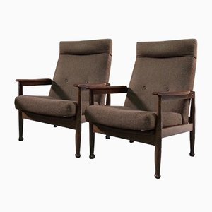 Manhattan Teak Reclining Armchairs by Guy Rogers, 1960s, Set of 2