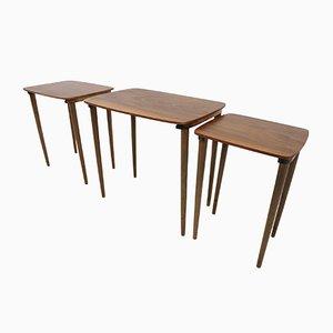 Tavolini ad incastro, Danimarca, anni '60, set di 3