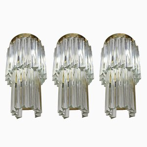 Large Wall Lamps from J. T. Kalmar, 1970s, Set of 3
