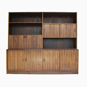 Vintage Rosewood Wall Unit by Poul Hundevad for Jensen & Herning