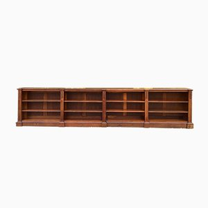 Antique Oak Bookcases, Set of 2