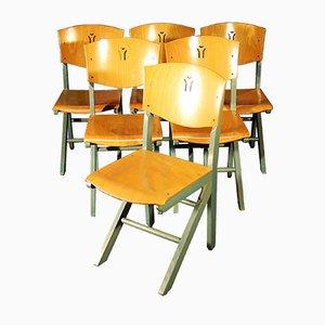 Chaises de Salle à Manger Vintage en Hêtre de Baumann, Set de 6