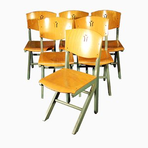 Vintage Beech Dining Chairs from Baumann, Set of 6
