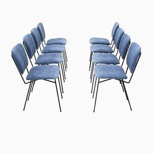Stühle mit Samtsitzen von Doro Cuneo, 1960er, 8er Set