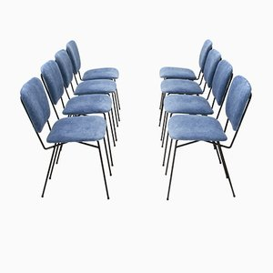 Velvet Chairs by Doro Cuneo, 1960s, Set of 8
