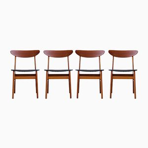 Teak Dining Chairs by Farstrup Møbler, 1960s, Set of 4