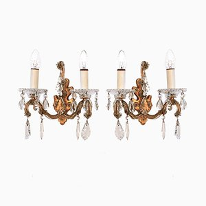 Crystal Wall Sconces from Palme & Walter, 1960s, Set of 2