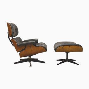 Sessel mit Fußhocker von Ray & Charles Eames für Herman Miller, 1960er
