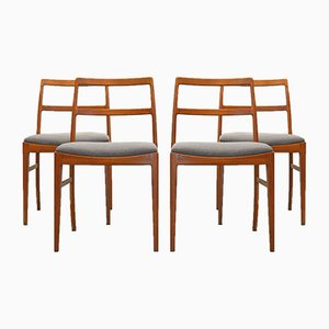 Mid-Century 430 Teak Dining Chair Arne Vodder for Sibast Mobler, Set of 4