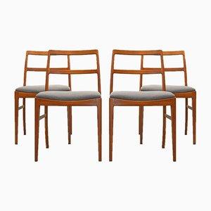 Mid-Century 430 Teak Dining Chair Arne Vodder for Sibast Mobler, Set of 4