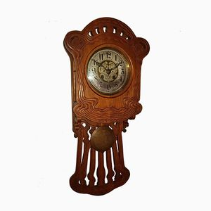 Art Nouveau Wall Clock from Gustav Becker, 1880s