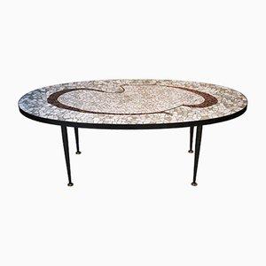 Mesa de centro italiana con mosaico, años 60