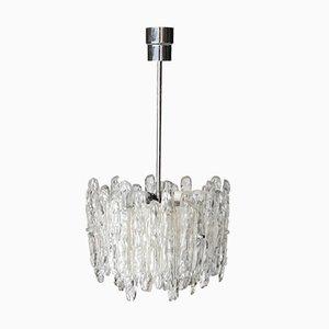 Deckenlampe aus Eisglas von J.T. Kalmar, Austria, 1960er
