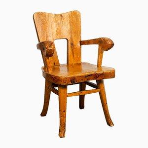 Finnischer Armlehnstuhl aus Pinienholz, 1947
