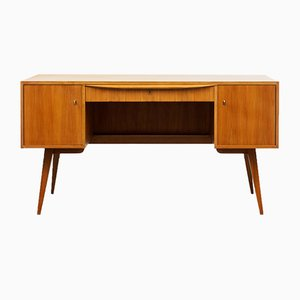 Walnut Desk by Franz Ehrlich for VEB, 1950s