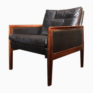 Danish Rosewood Lounge Chair by Hans Olsen for Juul Kristensen, 1950s