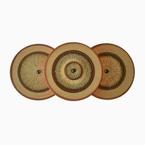 Aplique danés Mid-Century de cerámica de Søholm, años 60