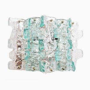Apliques italianos de cristal de Murano de Zeroquattro, años 70. Juego de 4