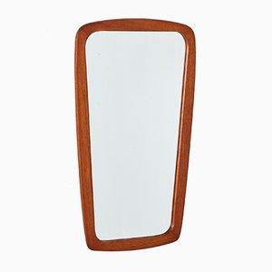 Espejo redondeado con marco de teca, años 60