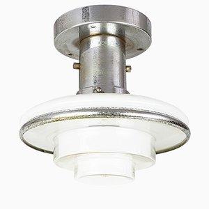Deckenlampe aus verchromtem Metall von Otto Muller für Megaphos, 1930er