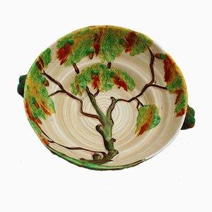 Britische Schale mit Eichenbaummotiv von Carlton Ware für Carlton Ware Pottery,1930er
