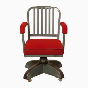 Red Kingsit No. 7500 Swivel Chair from Ahrend De Cirkel, 1930s