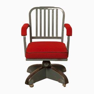 Sedia girevole Kingsit nr. 7500 rossa di Ahrend De Cirkel, anni '30