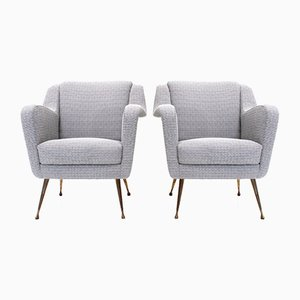 Mid-Century Italian Armchair, 1950s, Set of 2