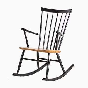 Rocking Chair Scandinave par Roland Rainer pour Hagafors, 1960s