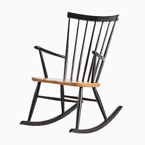 Sedia a dondolo di Roland Rainer per Hagafors, Scandinavia, anni '60