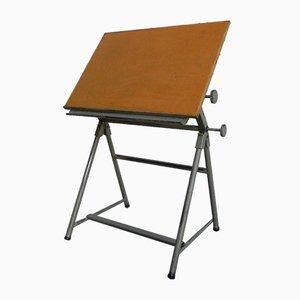 Mesa de dibujo ajustable industrial vintage
