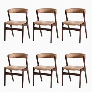 Danish Fire Chairs by Kai Kristiansen for Schou Andersen, 1950s, Set of 6