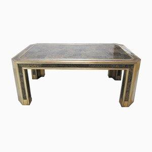 Tavolo vintage in ottone di Romeo Rega