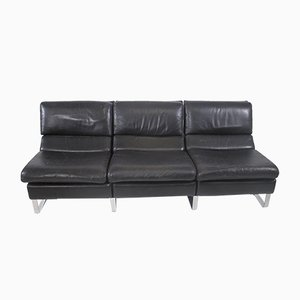 Vintage Three-Seater Leather Sofa from Rolf Benz, Germany 1970s